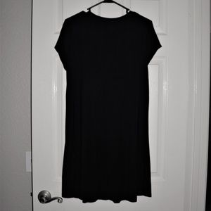 Dresses - Cute Women's Black T-Shirt Dress XL
